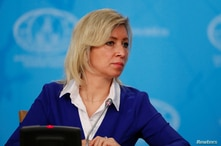 Russia's Foreign Ministry spokeswoman Maria Zakharova attends the annual news conference of acting Foreign Minister Sergei…