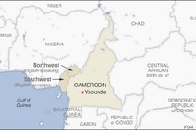 Map of Cameroon, showing the Northwest and Southwest (English-speaking) regions