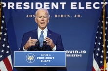 "U.S. President-elect Joe Biden speaks to reporters about efforts to confront the coronavirus disease (COVID-19) pandemic after meeting with members of his ""Transition COVID-19 Advisory Board"" in Wilmington, Delaware, Nov.  9, 2020."