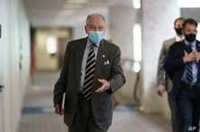 Sen. Chuck Grassley  arrives for a meeting with Senate Majority Leader Mitch McConnell, Oct. 26, 2020.