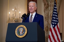 President Joe Biden delivers a speech on foreign policy, at the State Department, Thursday, Feb. 4, 2021, in Washington. (AP…