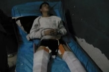 Free Tibet has identified the person in this photo as Dadul, a man they say is in the hospital after being beaten by Chinese police earlier this month.