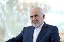 """Iranian Foreign Minister Mohammad Javad Zarif speaks during a press conference with his German counterpart Heiko Maas after their talks in Tehran, Iran, Monday, June 10, 2019. Zarif warned the U.S. on Monday that it """"cannot expect to stay safe""""…"""