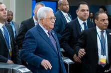 Palestinian President Mahmoud Abbas arrives for the 74th session of the United Nations General Assembly, at U.N. headquarters, Tuesday, Sept. 24, 2019. (AP Photo/Craig Ruttle)