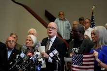 Dr. Orlando Gutierrez Boronat speaks on behalf of the Assembly of the Cuban Resistance, during a press conference on recent…