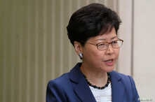 Hong Kong Chief Executive Carrie Lam attends a news conference in Hong Kong, June 10, 2019.