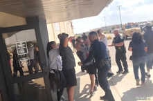 People are evacuated from Cinergy Odessa cinema following a shooting in Odessa, Texas, U.S. in this still image taken from a social media video August 31, 2019.   Rick Lobo via REUTERS   ATTENTION EDITORS - THIS IMAGE HAS BEEN SUPPLIED BY A THIRD PARTY. MANDATORY CREDIT. NO RESALES. NO ARCHIVES.