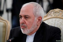 FILE PHOTO: Iran's Foreign Minister Mohammad Javad Zarif looks on during a meeting with Russia's Foreign Minister Sergei Lavrov…