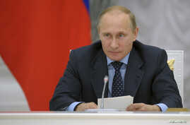 Russian President Vladimir Putin chairs a meeting of the presidential council on science and education at the Kremlin in Moscow, June 23, 2014.