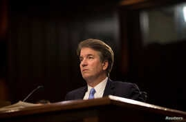 Supreme Court nominee Brett Kavanaugh testifies during the third day of his confirmation hearing before the Senate Judiciary Committee on Capitol Hill in Washington, Sept. 6, 2018.
