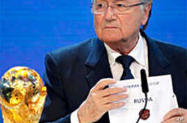 Russia, Qatar Win Bids to Host World Cups in 2018 and 2022