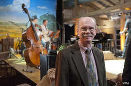 """Dr. Dale Cockrell, director of MTSU's Center for Popular Music and co-coordinator of """"Pa's Fiddle: American Music,"""" poses for a photo before filming begins for the PBS special at the Loveless Barn. ( Photo: MTSU / Andy Heidt)"""