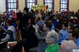Hundreds of people gathered at the Lutheran Church of the Reformation in Washington on Wednesday for the National Day of Action for the Dream Act. After speeches and calls for action, the broad coalition of more than 10 organizations from Connecticut