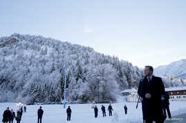 British Prime Minister David Cameron makes a statement during the second day of the Christian Social Union party (CSU) annual Epiphany meeting in the southern Bavarian resort of Wildbad Kreuth near Munich, Germany, Jan. 7, 2016.