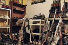 Mexican Police Discover Large Weapons Cache