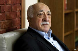FILE - In this March 15, 2014, file photo, Turkish Islamic preacher Fethullah Gulen is pictured at his residence in Saylorsburg, Pa. Gulen is charged in Turkey with plotting to overthrow the government in a case his supporters call politically motiva