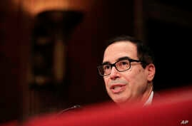 Treasury Secretary Steven Mnuchin testifies on Capitol Hill in Washington, July 26, 2017, before the Senate Appropriations subcommittee on the fiscal 2018 federal budget.
