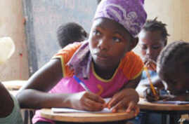 Young Sierra Leonean girl gets basic education from Irish humanitarian agency GOAL