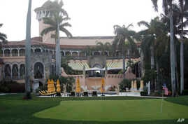 President Donald Trump's Mar-a-Lago estate in Palm Beach, FlORIDA, April 15, 2017. A Florida-based zoo and conservation society announced Sunday, Aug. 20, that it would not to hold its annual gala at President Trump's Florida resort.