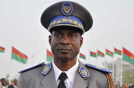 FILE - A picture taken on December 10, 2011 shows General Gilbert Diendere in Ouagadougou.