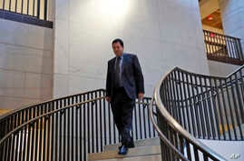 House Intelligence Committee Chairman Rep. Devin Nunes, R-Calif., arrives for the a closed-door meeting of the House Intelligence Committee on Capitol Hill, Feb. 5, 2018 in Washington.