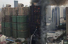 At Least 42 Dead, 90 Injured in Apartment-Building Fire in Shanghai