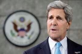 U.S. Secretary of State John Kerry makes a statement to the press regarding his meeting with Russian Foreign Minister Sergey Lavrov on subjects including Syria at the U.S. Embassy in Bandar Seri Begawan, Brunei, July 2, 2013.