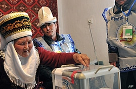 Kyrgyz Vote in Rare Multi-Party Elections