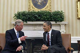 Britain's Prince Charles Meets With Obama