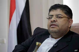 The head of the revolutionary committee of Yemen's Shiite Houthi rebels, Mohammed Ali al-Houthi speaks to a reporter during an interview with Associated Press in Sanaa, Yemen, March 19, 2019.