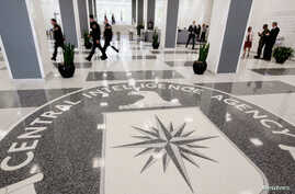 FILE - The lobby of the CIA Headquarters Building in McLean, Virginia, Aug. 14, 2008.