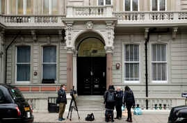 A view of the building where offices of Orbis Business Intelligence Ltd are located, in central London, Jan. 12, 2017. Media have identified the author of the Trump dossier, former British intelligence agent Christopher Steele, as being associated wi