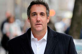 Michael Cohen, President Donald Trump's personal attorney, walks along a sidewalk in New York, April 11, 2018.