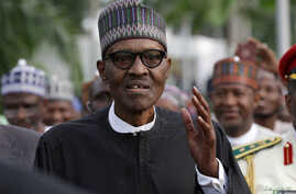 Nigeria's President Muhammadu Buhari is seen at Nnamdi Azikiwe airport in Abuja, Nigeria August 19, 2017 after his return from three months medical trip in Britain.