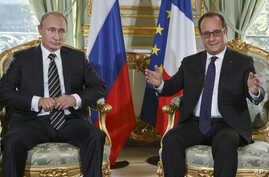 APTOPIX France Ukraine Diplomacy