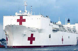 US Navy hospital ship 'Comfort'