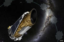 Artist's impression of the Kepler spacecraft in one of its observing configurations