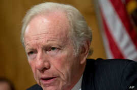 Chairman Joe Lieberman, ID-Conn., leads a hearing of the Senate Committee on Homeland Security and Governmental Affairs to assess current threats to the United States, on Capitol Hill in Washington, September 19, 2012.
