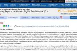 US releases its 2014 report on International Human Rights situation