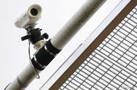 A closed circuit television camera (CCTV)