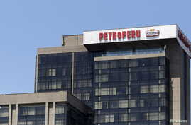 The office building of Petroleos del Peru (Petroperu), a state company dedicated to the refining, distribution and marketing of fuels, is seen at the district of San Isidro in Lima, April 7, 2015.