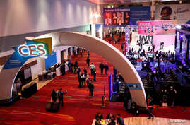 A view of the Las Vegas Convention Center lobby as exhibitors prepare for the 2018 CES in Las Vegas, Nevada, Jan. 8, 2018.