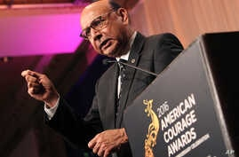 Khizr Khan urges audience to get out and vote at Advancing Justice - AAJC's 25th Anniversary Celebration and 2016 American Courage Awards at the Capital Hilton on Thursday, Oct. 6, 2016 in Washington, D.C.