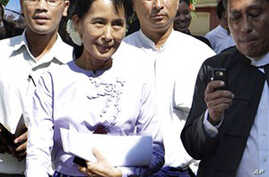 Aung San Suu Kyi Seeks Re-instatement of Opposition Party