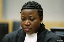 Chief Prosecutor Fatou Bensouda of the International Criminal Court (ICC) sits in the ICC courtroom in the Hague, July 10, 2012.