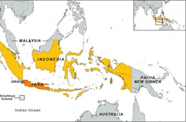 Indonesia, Australia, Papua New Guinea map