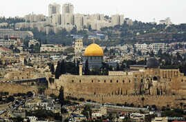 A general view of Jerusalem's old city shows the Dome of the Rock in the compound known to Muslims as Noble Sanctuary, and to Jews as Temple Mount, Oct. 25, 2015.