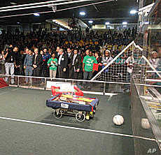 The FIRST Robotics Competition combines the excitement of sport with science and technology to create a unique varsity sport for the mind, according to organizers.