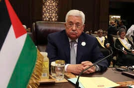 Palestinian President Mahmoud Abbas attends the summit of the Arab League at the Dead Sea, Jordan, March 29, 2017.