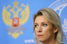 Spokeswoman of the Russian Foreign Ministry Maria Zakharova attends a news briefing in Moscow, Oct. 6, 2015.